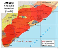 Somalia Political Conditions Map - January 2014