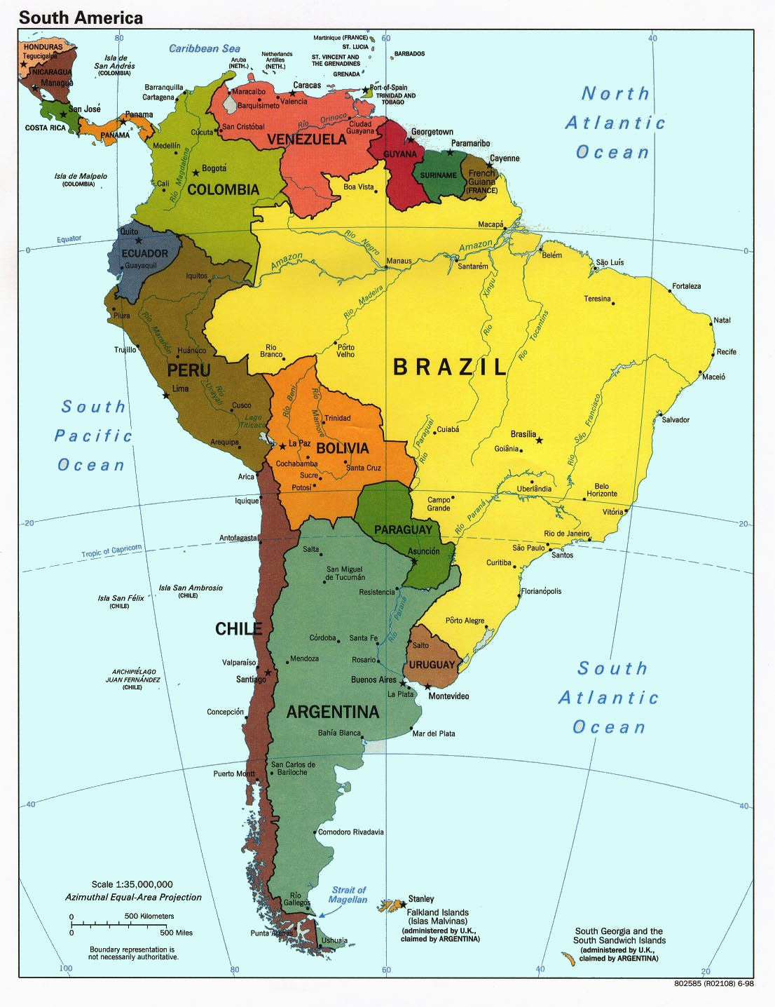 Latin America World Map