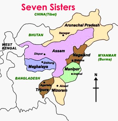 india north east states and capitals with Seven Sisters on En Indg Chp2 besides South additionally World Atlas And Geogrphy furthermore Indian Union Statesterritories And Election Sys additionally Asia Map.