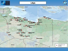 Map of Libya with villages/towns of interest
