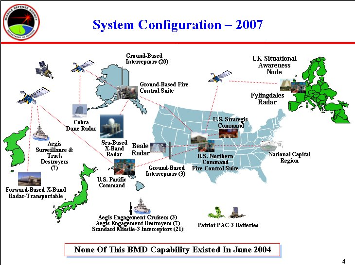 Ballistic Missile Defense - Map of us missile defense systems