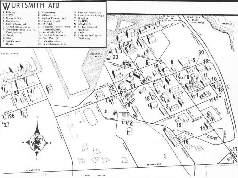 Wurtsmith AFB United States Nuclear Forces - Us map of air force bases