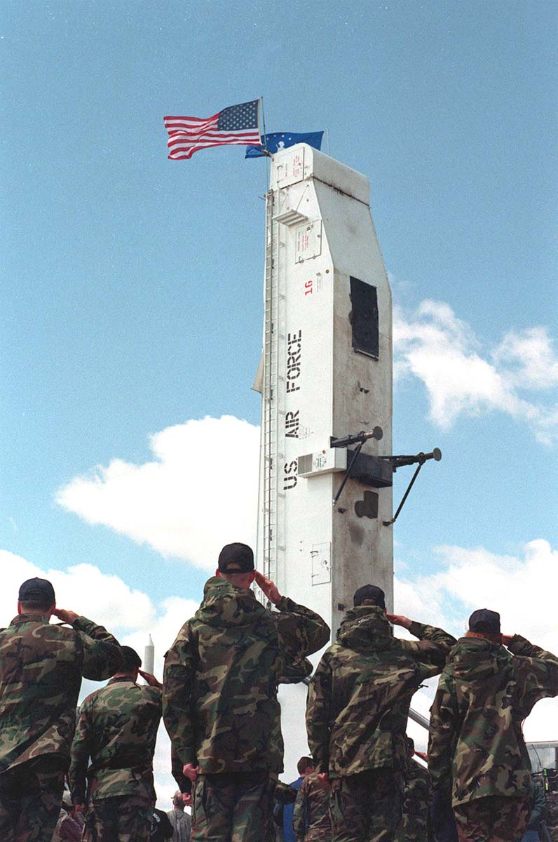 final minuteman missile pulls out of grand forks