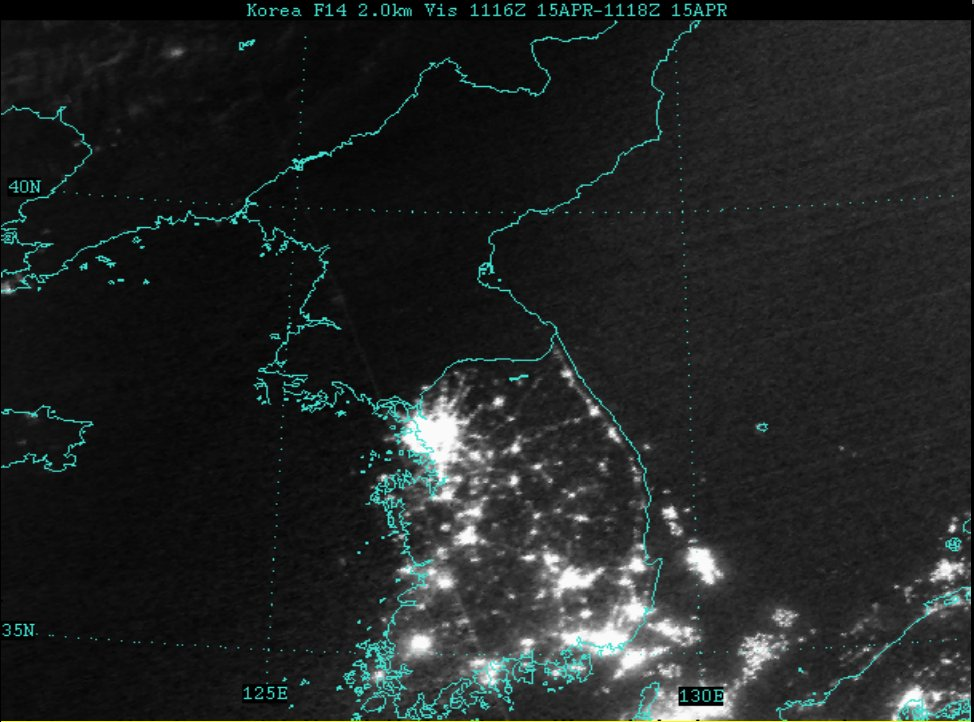 Image result for north korea south korea night pictures