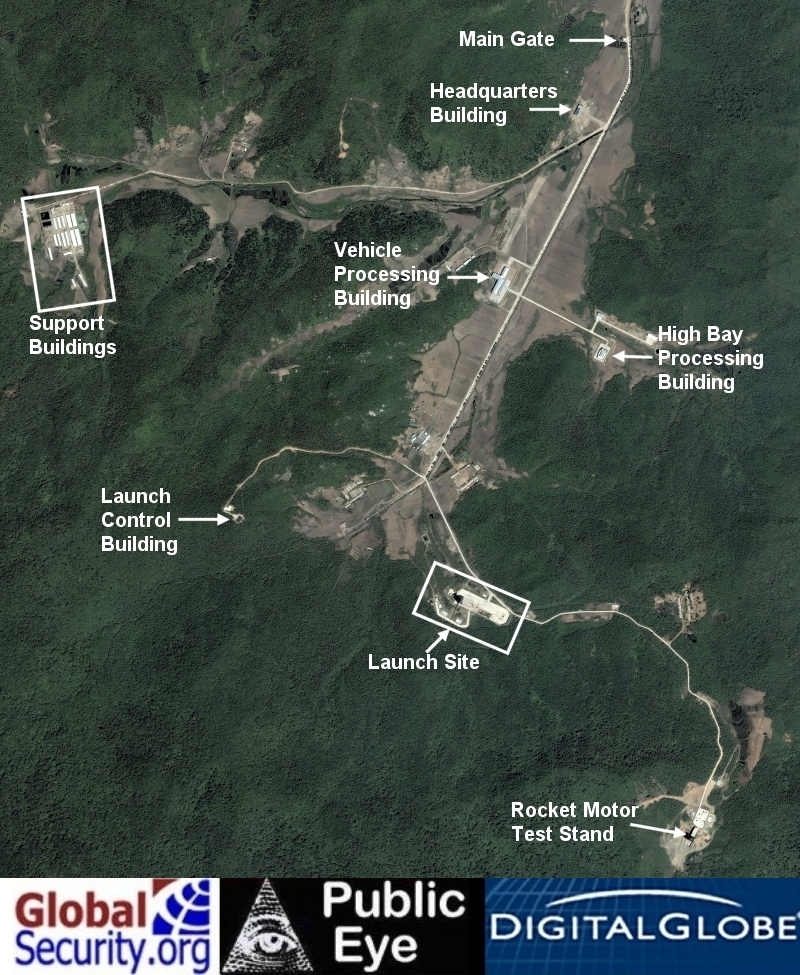 Overview of the Tongch'ang-dong launch complex as of 3 June 2009
