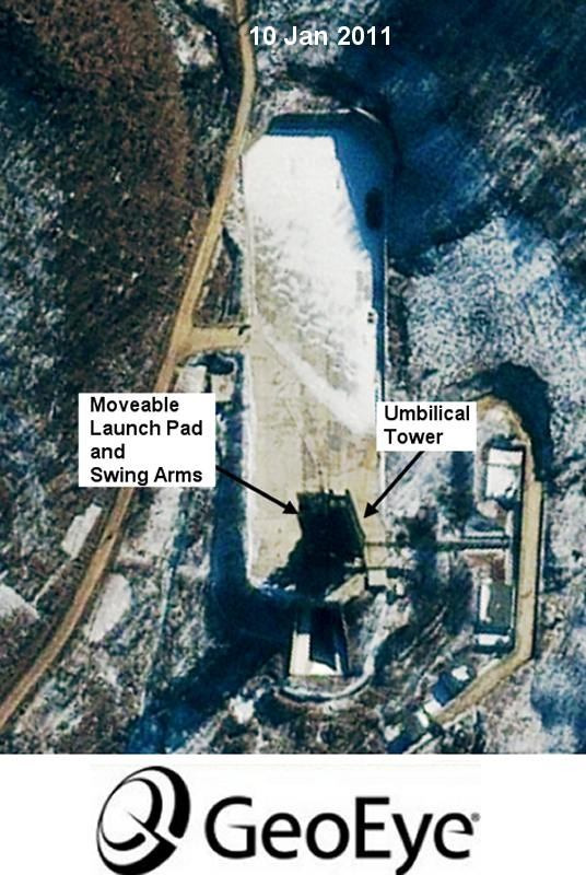 OSatellite imagery of the Pongdong-Ni/Tongchang-Ni launch pad as of 10 January 2011s. Credit: Globalsecurity.org and GeoEye