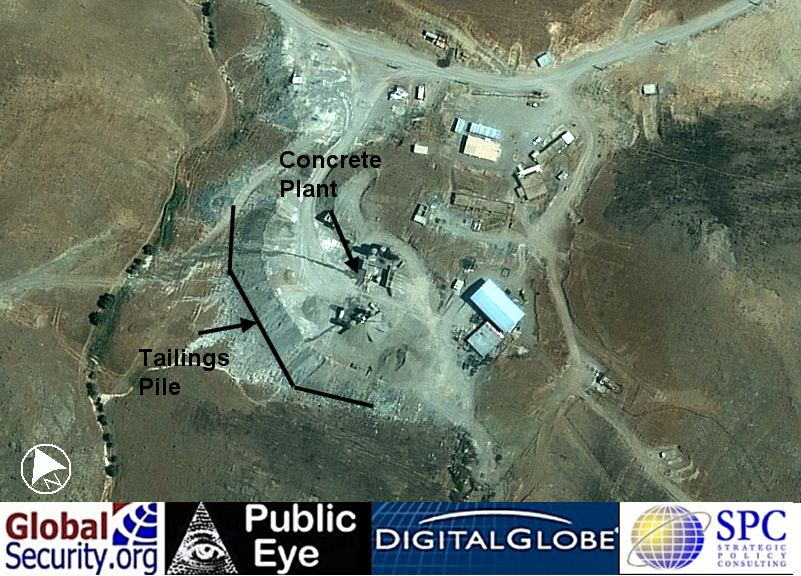 Site 311 / Qazvin Underground Facility - Iran Special Weapons ...This image show one of the large tailings piles by Site 311 and the rock crushing and onsite concrete production capability for grouting and reinforcing the ...