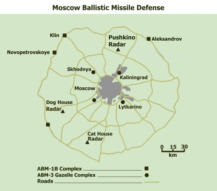 ...the United States with an operationally deployed ballistic missile defense system around Moscow.
